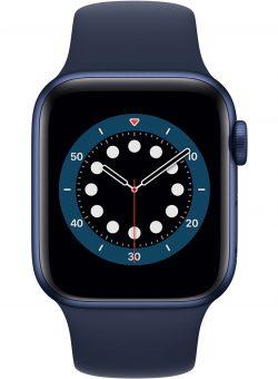 Apple Watch Series 6 40mm Blauw Aluminium Blauwe Sportband Sporthorloge